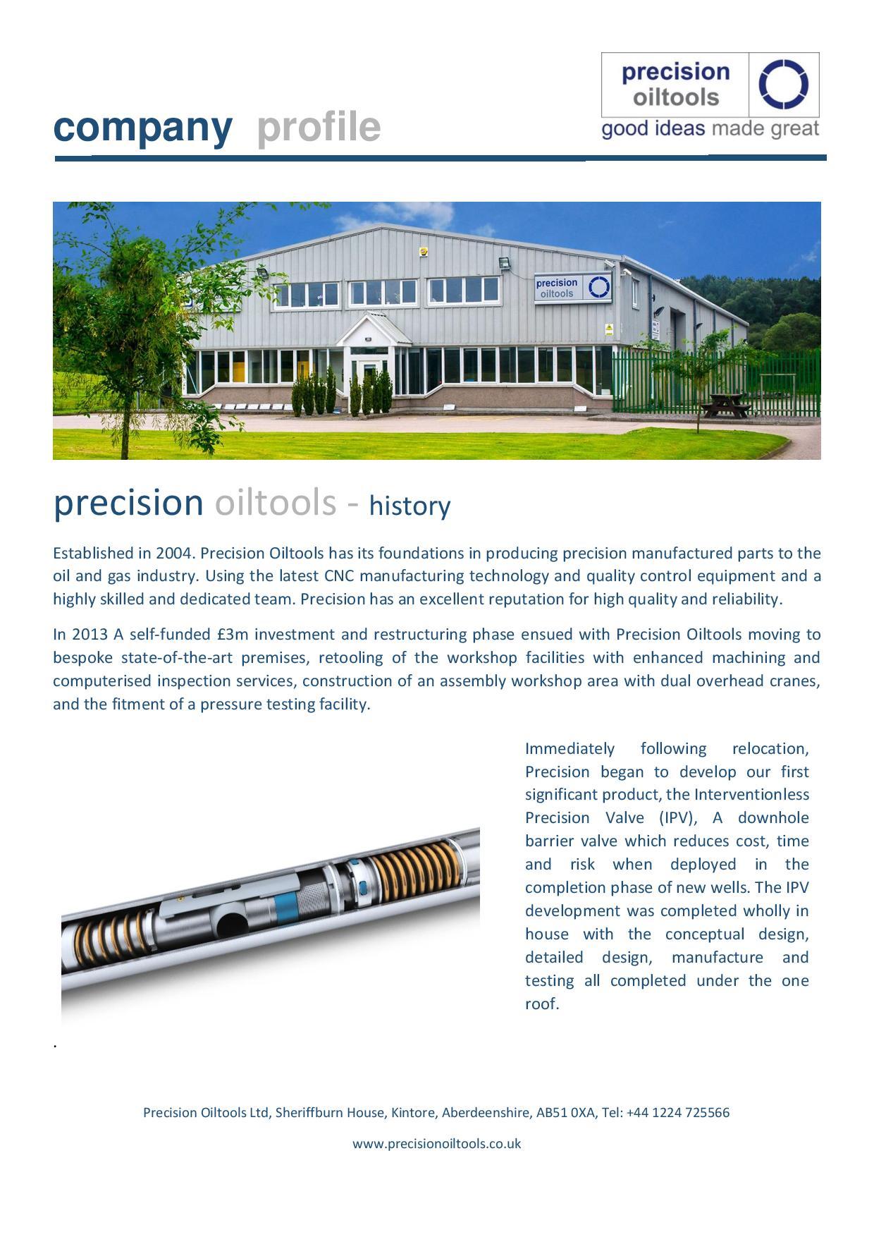 history - precision oiltools